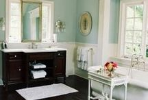 bathrooms / by Maile from The Bumblebee Paperie