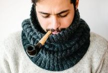 crochet + knit: scarfs / knit and crochet / by tichtach