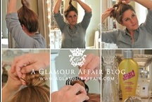 .hairsquare : tutorials. / How to accomplish all those purdy styles and make some nifty DIY treatments. / by Stephanie Kimberly