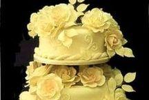 Wedding Cakes, Yellow. Indian Weddings Magazine / Indian Wedding Inspirations: Yellow Wedding Cakes / by Indian Weddings & California Bride