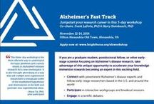 Alzheimer's FastTrack / A three-day workshop for early-stage Alzheimer's researchers to accelerate their scientific knowledge of the field. www.brightfocus.org/alzworkshop / by BrightFocus Foundation