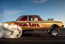 Sleds, Rides & Rods / We're talkin' cars, baby! Hot rods, customs, concept cars, dragsters, gassers, classics, restorations, show cars, fantasy cars, and all things cool with an engine & wheels. / by Audio Gasoline: Quality Vinyl Records