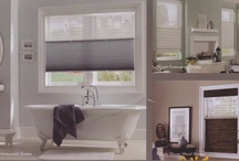 TriLight Window Shades / A brand new product from Kathy Ireland Home by Alta, offers the flexibility to have light thru the top shade (with a sheer), with privacy on the bottom (with a cellular shade, woven wood or Roman Shade). Operates like a Top-Down/Bottom-Up shade! / by Window Treatments