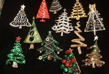 """ Christmas Tree Brooch "" / by Cheryl Reed"