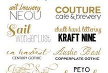 Fonts  / by Cheryl Schwager-Nowak