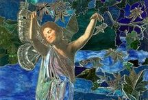 """boulevard of stained glass / """"I took the stained glass window And held it to the light"""" / by Maiolaine Gisella Poesy"""