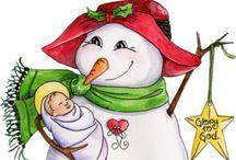 Snowmen and Women @~@ / by Paula Jordan Wilson