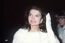 Jackie Kennedy / The World English Dictionary defines elegance as:  1. 	dignified grace in appearance, movement, or behaviour 2. 	good taste in design, style, arrangement, etc. 3. 	something elegant; a refinement.   / by Karen Gambrel