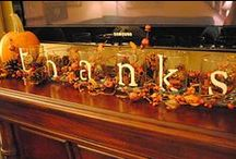 Thanksgiving decorating / by Sara Robitaille