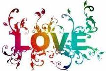 """LOVE"" / by Sheryl Kneebone"