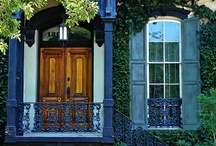 beautiful doors / I see a red door and I want to paint it black. Or pin it. / by Robin Zaleski