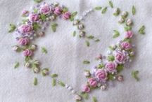 """Embroidery Patterns, Ideas / Stitching How-tos / Tips & Photo Inspirations / """"My Soul is fed with needle & thread""""  <3 / by Ruth Spesshardt"""