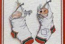 """Cross-stitch / Needlework Christmas Stockings, Ornaments, Decor Patterns & Tips / """"Christmas is not as much about opening our presents as opening our Hearts.""""  ~ Janice Maeditere / by Ruth Spesshardt"""
