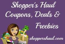 Shopper's Haul Coupons, Deals, & Freebies / Learn how to save money by using coupons, finding the best deals, and stocking up on freebies!  Find the best deals online ,coupon codes, promotional codes , discounts and more both online and off. / by Shopper's Haul