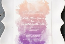 Watercolor invitations / by Sincerity Bridal