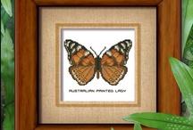 Butterfly Cross Stitch Patterns / Mini Butterfly Cross Stitch Patterns. Available at MiniCrossStitch.com / by Pinoy Stitch