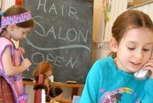 Hair & Beauty Salon - Mpressarias / Inspiration for Language Immersion Camp Programs - if you want to teach foreign languages to young children all you have to do is engage their imagination! www.analomba.com / by Ana Lomba Early Languages LLC