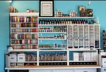 Craft Room Organization / Craft space organization ideas so you can enjoy your hobby more!  Need cardmaking or scrapbooking ideas? Check out my Papercrafting board or contact me at Makalah.Stampinup.net!  / by Makalah