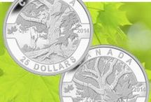 O Canada / The Royal Canadian Mint's popular O Canada coin series features Canadian icons that plumb the depths of our national pride and kindle Canadian's love for their home. / by Royal Canadian Mint