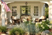Porches, Patios & outside / Ideas for our outdoor living area.  We love sitting on our back patio.  But one of these days I would love to have a fab front porch to welcome guests and patio to entertain family and friends. / by Debbie Ferraro