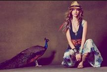 """//Boho Chic-ness// / My fave """"downtime"""" look. A bit hippie with a dash of glam! / by Tiffany Hendra"""