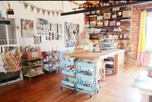 Creative spaces / Craft room and art studio design and storage ideas / by Plucking Daisies (Amy Bowerman)
