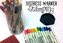 Distress Inks, Stains and Markers / #creative projects and #tutorials using #DistressInk #DistressStain #DistressPaint #DistressGlitter and #DistressMarkers from #RangerInk / by Plucking Daisies (Amy Bowerman)