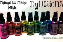 I <3 Dylusions / #Creative projects and #tutorials using #Dylusions ink sprays and #stamps from Dyan Reaveley #RangerInk / by Plucking Daisies (Amy Bowerman)