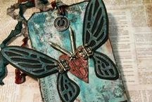 Tim Holtz Alterations / Creative Projects using Tim Holtz Alterations Sizzix dies, embossing folders, and movers and shapers. / by Plucking Daisies (Amy Bowerman)