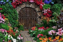 Landscaping gates and garden entrances / Welcome to Dream Yard's Pinterest board for gate pictures. We have lots of unique garden entryway ideas like, stone arches, wood gates, iron gates, stone gates, wagon wheel gates, and even a bicycle gate. Thanks for visiting us, and we hope you get a chance to check out some of our other landscaping boards.  / by dreamyard