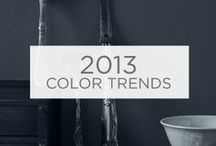2013 Color Trends / The 2013 Color Trends consist of Gathered Stories, a collection of approachable, aged colors; Electro Noir, a clean, highly saturated palette; and Simple Delights, an optimistic playful blend of old and new colors. / by Valspar