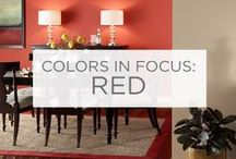 Colors in Focus: Red / One of the most powerful colors, red can alter the mood of any space.  / by Valspar