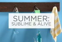Summer: Sublime and Alive / Summer is the time for bright, bold and playful color palettes.  / by Valspar