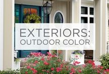 Exteriors: Outdoor Color / Whether you paint your house, your front door or a single flower pot, bringing color outside brightens up the whole neighborhood.  / by Valspar