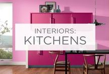 Interiors: Kitchens / Kitchens are the hub of almost every home. The perfect place to have fun with color. / by Valspar