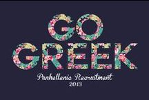 Sorority Life / I love being a sorority girl, and no matter the letter we're all greek together. / by Megan Stahl