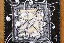 tangled time / Zentangle inspired art / by Pat O'Neal Agee