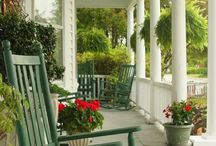 P O R C H ... / I could spend so many hours sitting on these amazing porches... / by Janet Copeland