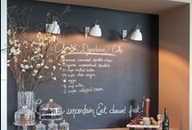 C H A L K... / Make a statement with a chalkboard ... / by Janet Copeland