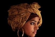 wrap your head around it /  It is believed that African cultures used head wraps before the days of slavery so that men could show off their wealth and the level of their social status and so that women could prove that they were prosperous and spiritual. In many cultures, the face is more important as a place of beauty than is the body, and head-covers facilitate this focus toward the face, facial expression, conversation, etc., and away from secondary sex characteristics.   / by Pin a holic Saka ™