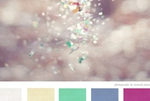 C.onfetti / gold, cream, moss green, lilac, plumb confetti, oversized balloons, whimsical animals  / by Caroline Cole