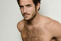 Hairy models / When hair is a great frame for a beautiful man / by the Celeb Archive