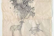 calligraphic / lettering, penmanship, pointed pen, ink, Fraktur, calligraphy, gouache, & botanical studies.  / by Jaegerin