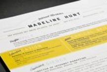 building the perfect resume / inspirational resumes, invoices & leave behinds / by nick | huffo design