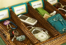 Organization is an OCD girl's bff / Crafty ideas to make small areas hold more. / by Brittany Stone