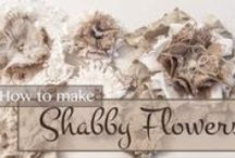 """How to"" Fabric Flowers / by Lil's Shabby Shop .."