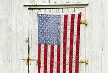 red, white and blue / by Tricia Everett