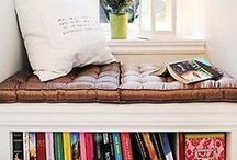 home: book nook.  / by Laurel Taylor