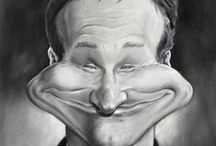 ROBIN WILLIAMS...... 1951-2014  RIP / Robin McLaurin Williams was born on July 21, 1951 in Chicago, Illinois,Briefly studied political science, before enrolling at Juilliard School to study theatre. After he left Juilliard, he performed in nightclubs where he was discovered for the role of Mork on an episode of Happy Days (1974) and the subsequent spin-off Mork & Mindy (1978). Williams' wild comic talent involves a great deal of improvisation, Academy Award for Best Supporting Actor in Good Will Hunting (1997). / by Miz Val