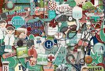 Illness & Accident Scrapbooking Kits / Digital scrapbooking kits about being ill, having an accident etc.  / by Rikki Donovan